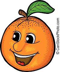 orange, sourire