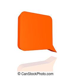 speech balloon - Orange speech balloon