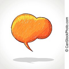 Orange speech balloon icon