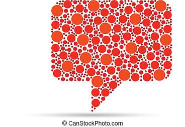 Orange Speech Bubble