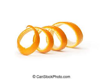 orange spiral peel