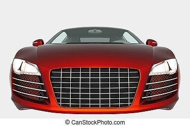 sport car - Orange sport car solated on white background