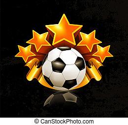 Orange sports emblem, football 10eps