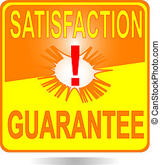 orange square button Satisfaction sign