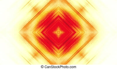 Orange square wall with light rays looping CG animated abstract background