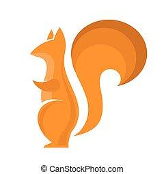Orange Squirrel Icon Isolared