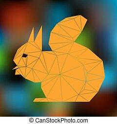 orange squirrel triangles
