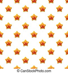 Orange star shaped candy pattern