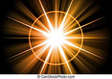 Orange Star Sunburst Abstract Background Wallpaper Texture