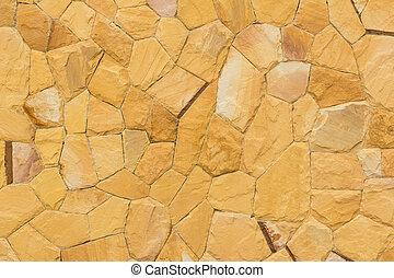 Orange stone wall background