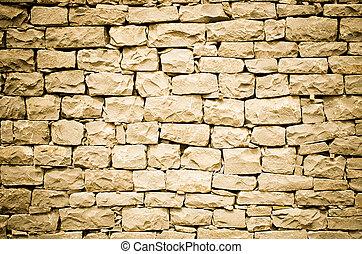 Orange stone wall