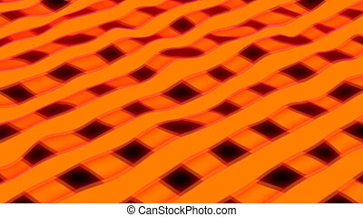 Orange stripes - 3d rendering close up view threads of...
