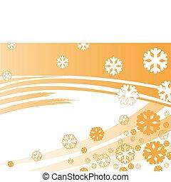 orange stripes with snowflakes