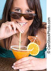 Orange summer cocktail