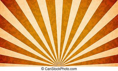 Sun burst retro background - Orange Sun burst retro ...