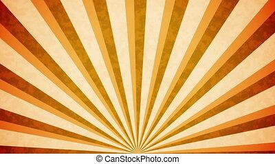 """""""Orange Sun burst retro background design"""""""