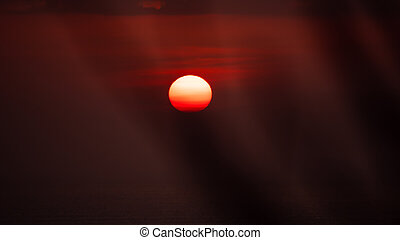 orange sun in the sky