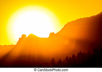 Orange Sun Setting