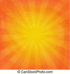 Orange Sunburst Background
