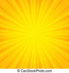 Orange Sunburst Banner