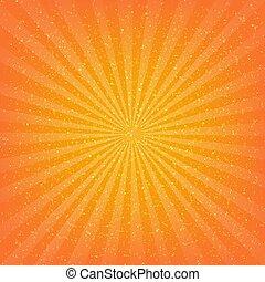 orange, sunburst, fond