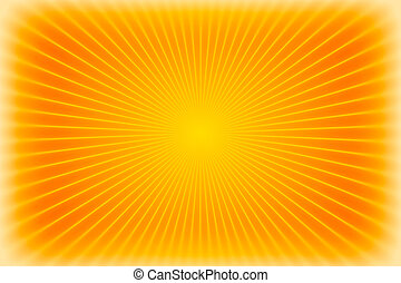 Orange sunburst