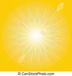 Orange sunburst summer.VECTOR