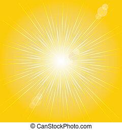 Orange sunburst summer.VECTOR