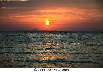 orange sunset by the sea
