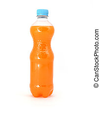 plastic bottle - Orange sweet water in a plastic bottle