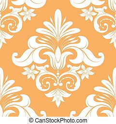 Orange Swirl Pattern