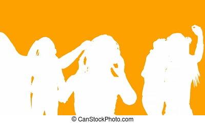 orange, tänzer