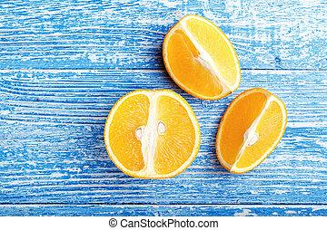 orange, table, coupure