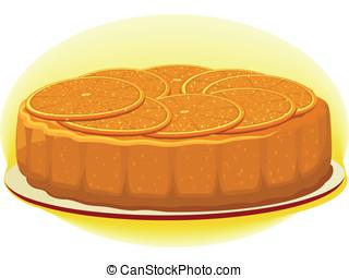 orange, tarte
