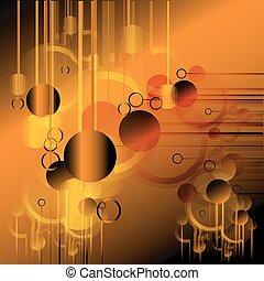 Orange Technical background