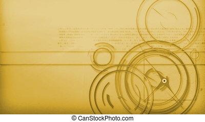 orange technology background - Motion graphic line of...
