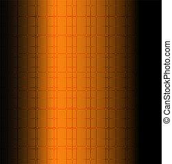 Orange technology grid background