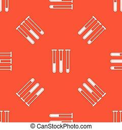 Orange test-tubes pattern