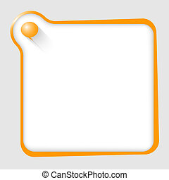 orange text box for any text with speech bubble