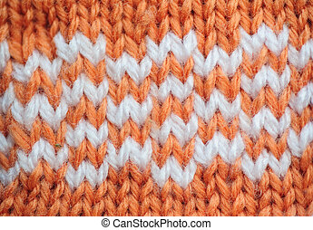 Orange texture knitted fabric