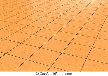 orange tiled floor background
