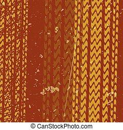 orange tire tracks over brown background