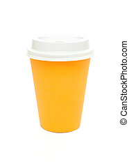 Orange to go coffee cup