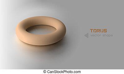 orange, torus