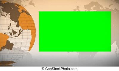orange, tourner, itself, la terre