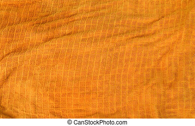 Orange Towel Texture - A bright orange cloth towl background...