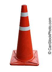 Orange Traffic cones isolated