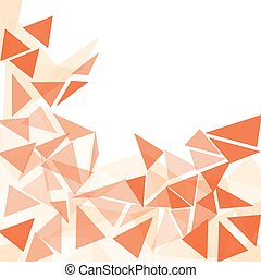 orange triangle abstract background