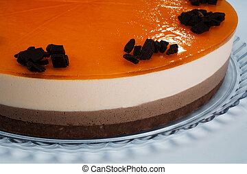 orange tricolor cake