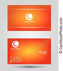 Orange two sided business card